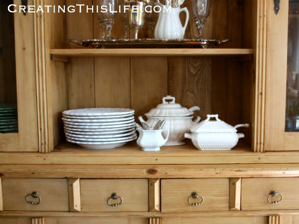 White-ironstone-in-pine-hutch