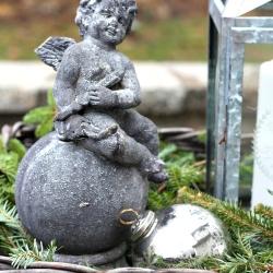 Cherub-with-silver-ornament-and-lantern