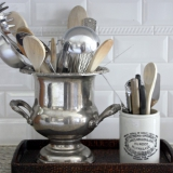 champagne-bucket-as-kitchen-utensil-holder