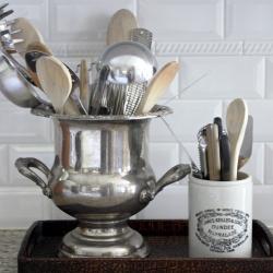 champagne-bucket-as-kitchen-utensil-holder