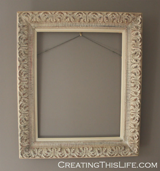 How to make a memo board from an empty frame creating for What to do with empty picture frames