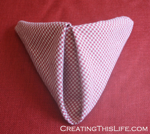 Easy Cloth Napkin Folding: A Step By Step In Pictures