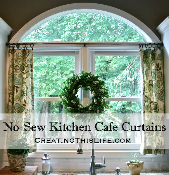 no sew cafe curtains title - Kitchen Cafe Curtains
