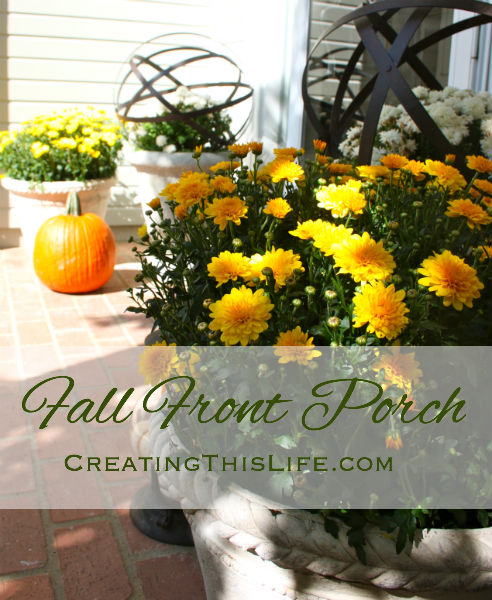 Fall Front Porch CreatingThisLife.com
