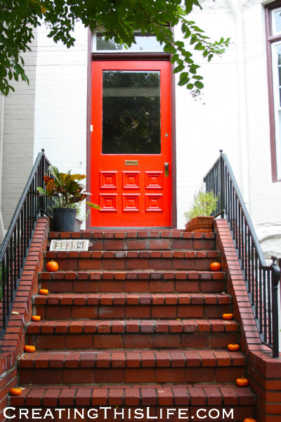 Georgetown Doorway Red