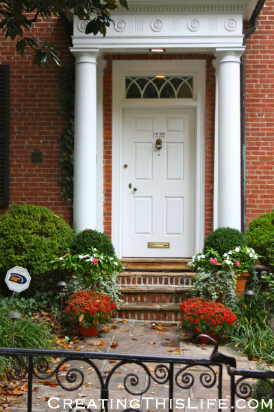 Georgetown brick doorway