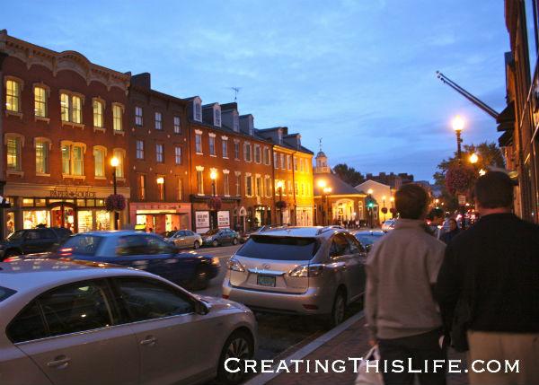 georgetown street dusk