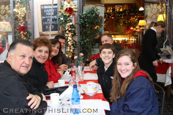Rome cafe at Christmas