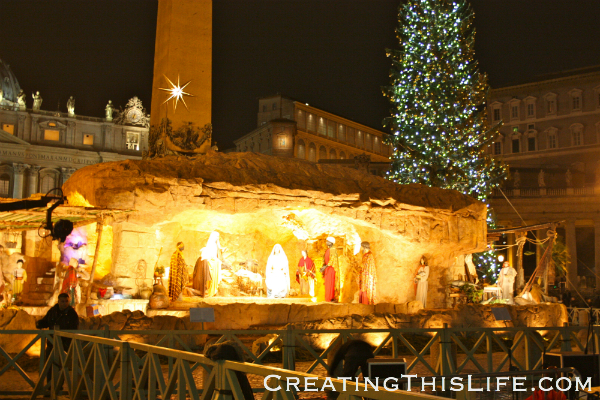 St. Peter's Square Nativity on Christmas Eve