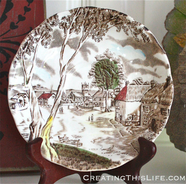 Staffordshire Sunday Morning transferware