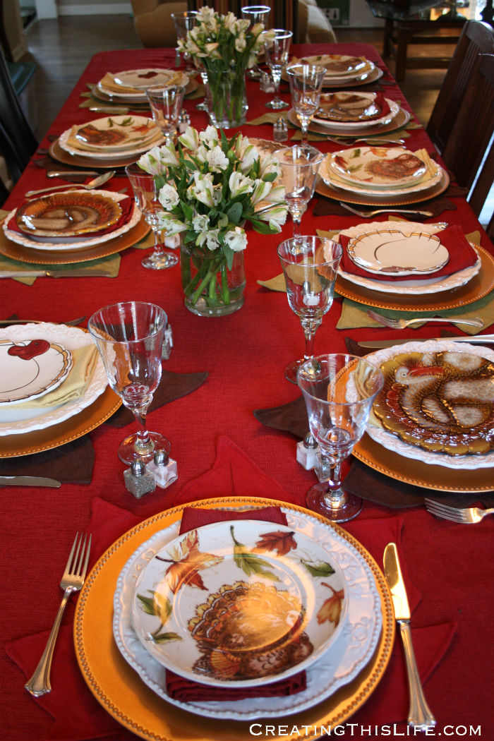 Thanksgiving Table CreatingThisLife.com