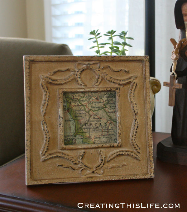 decorative frame with map