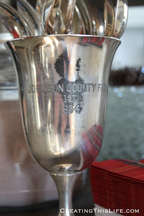 vintage county fair trophy