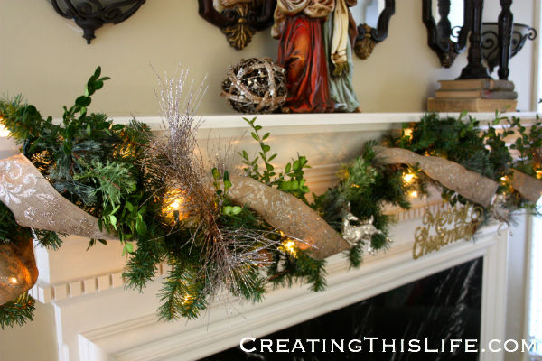 Christmas garland after