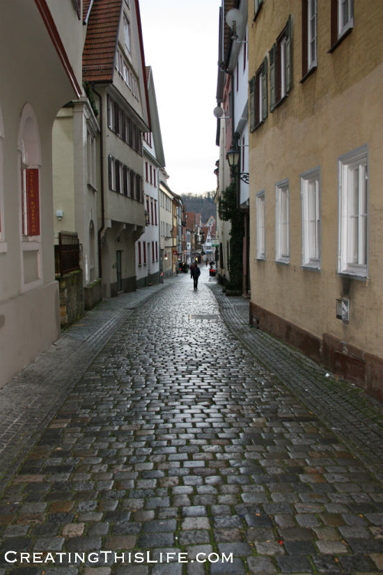 Paved German street
