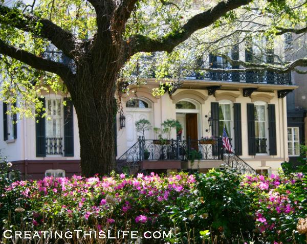 Savannah Black and White House