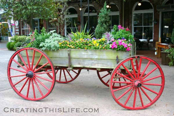 Savannah Flower Wagon