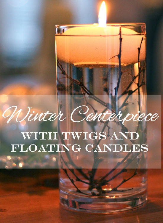 Winter centerpiece at CreatingThisLife.com