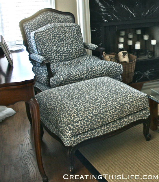 Incroyable French Bergere Chair And Ottoman