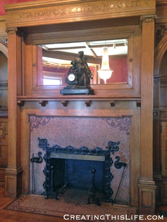 cupples house library fireplace