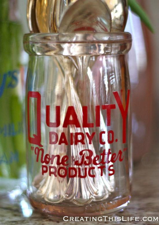 vintage dairy company jar