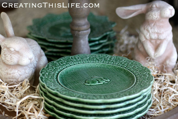 Bunny-figurines-bunny-plates