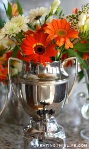 Gerber-Daisy-Arrangement-Vintage-Silver-Coffee-Pot-Creating-This-Life