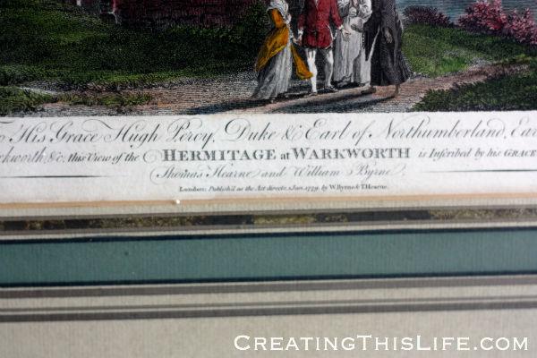 Hermitage of Warkworth framed print