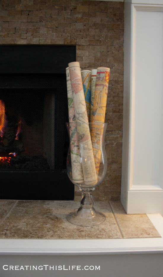 Maps in vase