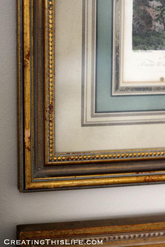 estate sale frame closeup