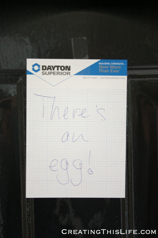 there's an egg sign