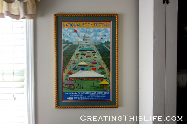 framed national book festival poster