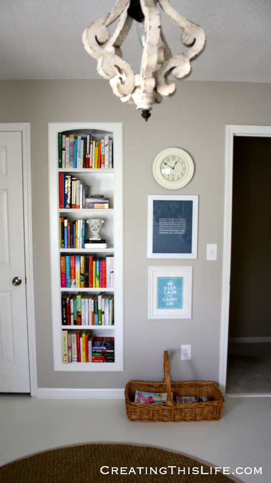 home office books and art