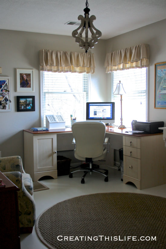 home office with corner desk