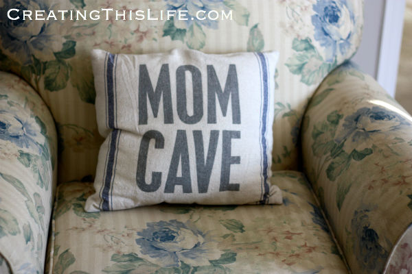 mom cave pillow
