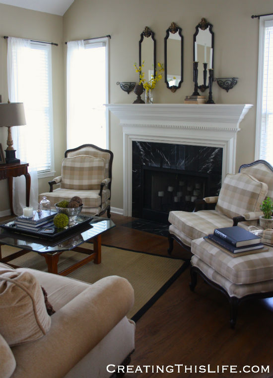 neutral living room sideview