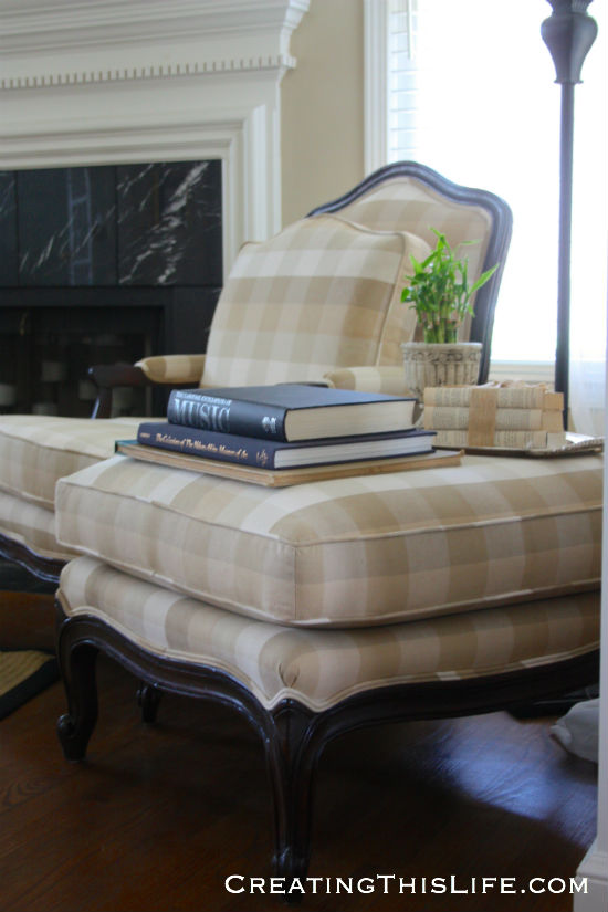 ottoman used as side table