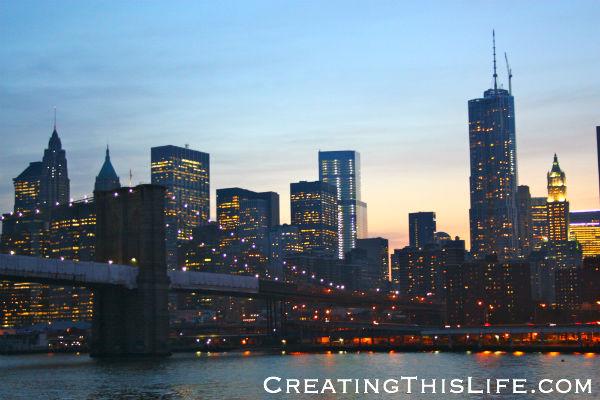 Manhattan Skyline from Dinner Cruise Boat