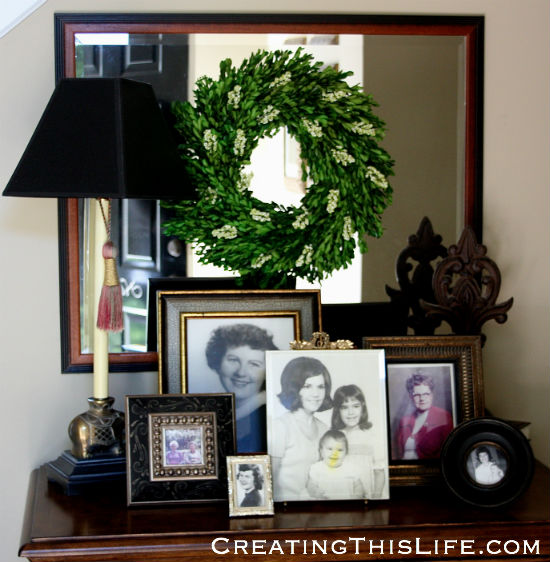 Mothers Day Photo Display at CreatingThisLife.com