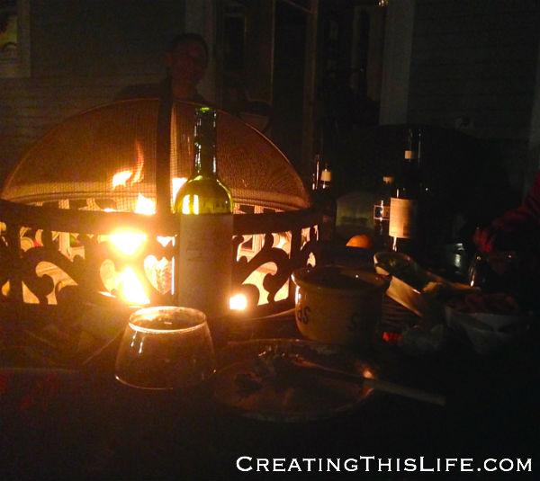 Patio fire pit at CreatingThisLife.com