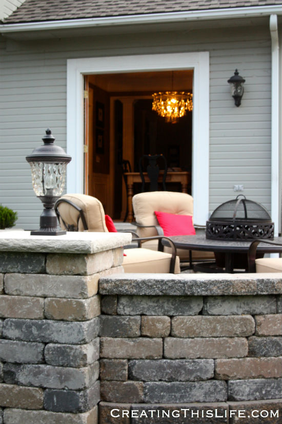 stone patio at CreatingThisLife.com