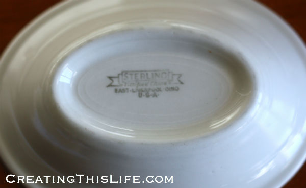 Sterling verified china white bowl