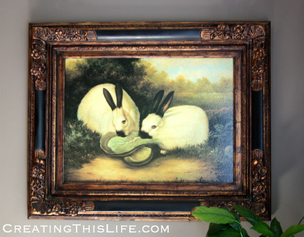 rabbit oil painting