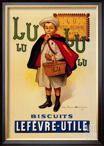 French vintage poster for kitchen