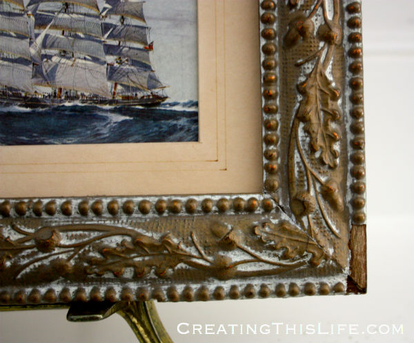 Antique frame detail