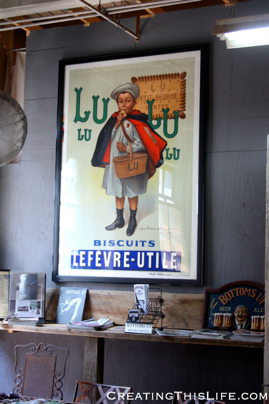 Oversized vintage French advertising poster