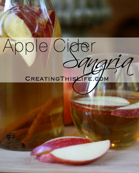 Apple Cider Sangria Recipe at CreatingThisLife.com