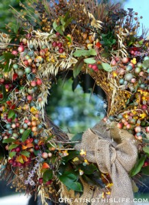 Fall Wreath at CreatingThisLife.com