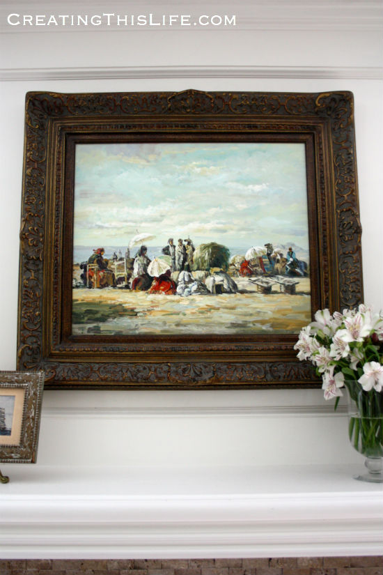 Oil Painting Over Mantle