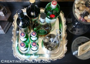 Butler's Tray as Bar Cart